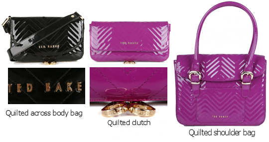 Ted Baker Quilted Patent Bag