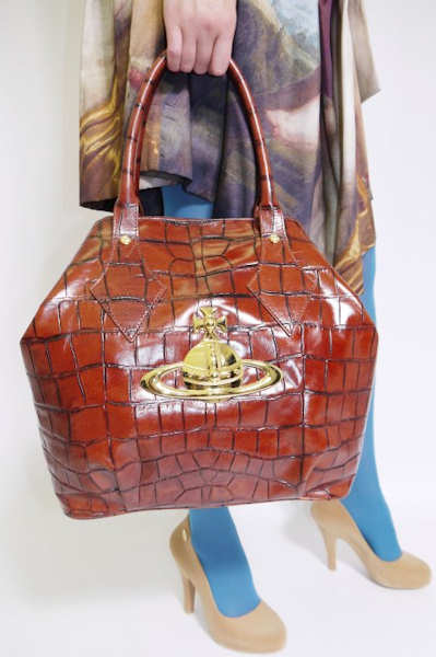 Vivienne Westwood Large Ebury Bag in Cognac