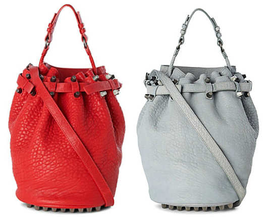 Alexander Wang Diego Bucket Bag in Red or Mercury