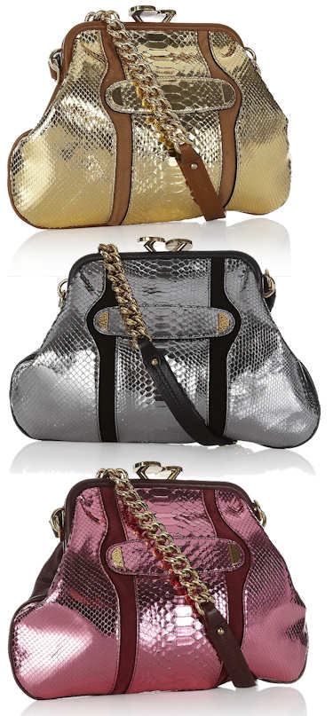 Marc Jacobs Metallic Little Stam in Python