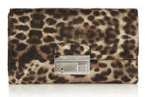 Michael Kors Gia Cheetah Clutch Bag