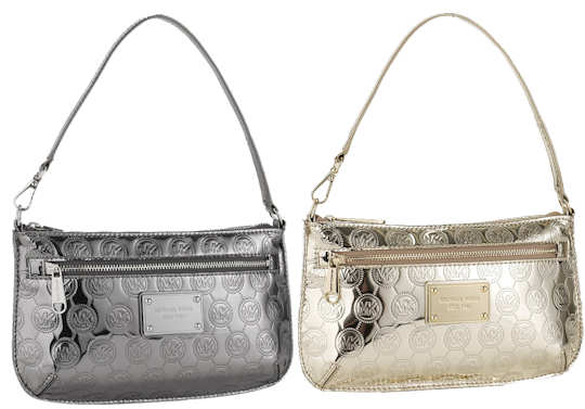 Michael by Michael Kors Jet Set Monogram Wristlet in Silver or Gold