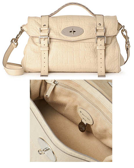 a08bf4518b new zealand mulberry alexa cream bag genuine 9584d 217c5  greece mulberry  alexa croc bag 7ab33 81875