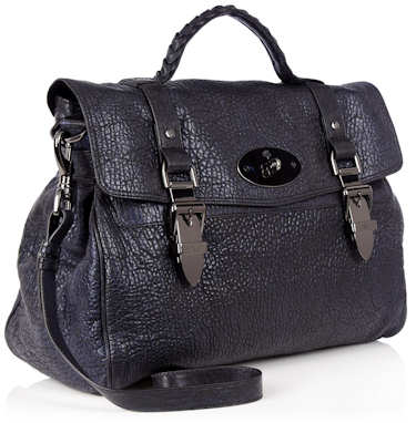 Mulberry Oversized Buckle Bag in Midnight
