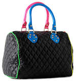 Paul's Boutique Quilted Molly Bag in Black (reverse)