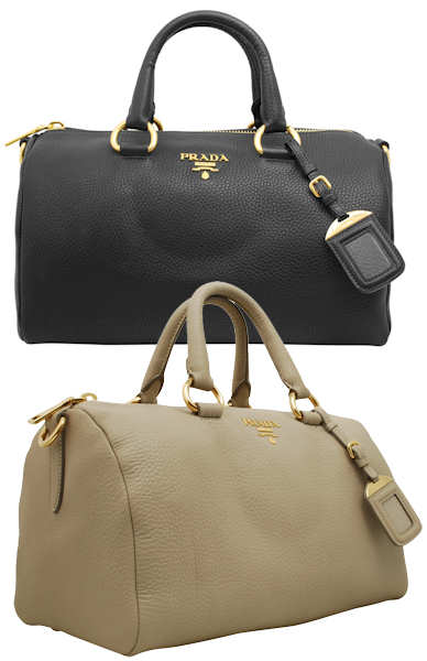 Prada Vitello Daino Boston Bag