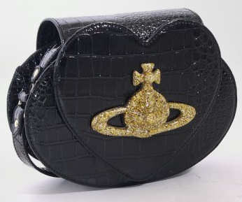 Vivienne Westwood Chancery Heart Orb Bag Black