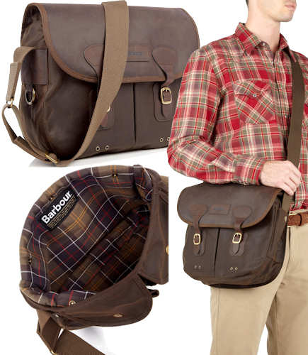 Barbour Waxed Cotton Tarras Bag