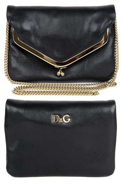 D G  Mary Lou Chain Handle Evening Bag