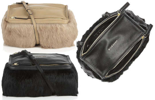 Givenchy Pandora Mini Fur Bag