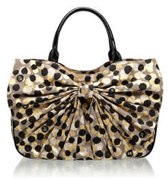 Lulu Guinness Confetti Print Small Bow Wanda Bag