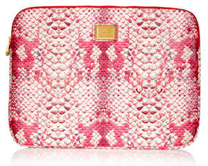 Marc by Marc Jacobs pink snake print laptop case