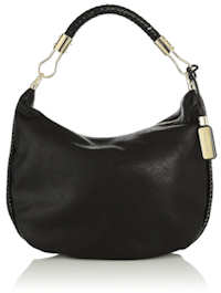 Michael Kors Skorpios Crescent Hobo Bag in Black
