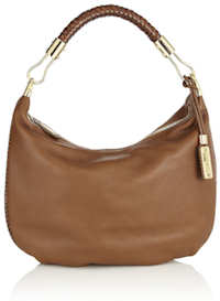 Michael Kors Skorpios Crescent Hobo Bag in Cinnamon