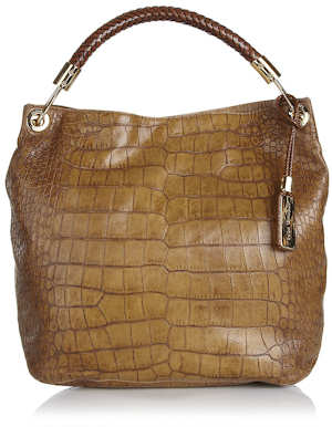 Michael Kors Skorpios Shoulder Bag in Tan