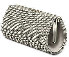 Swarovski Power Evening Bag in Silver