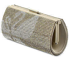 Swarovski Signature Power Evening Bag in Gold with silver swan
