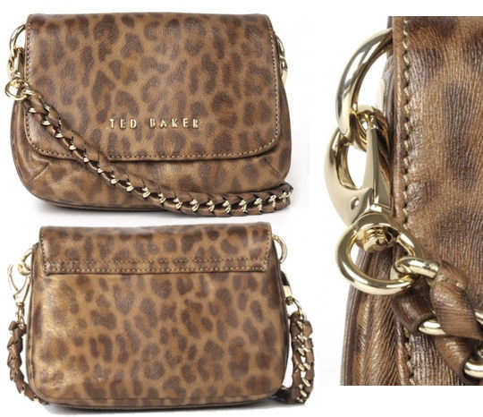 Ted Baker Leopard Print Cross Body Bag