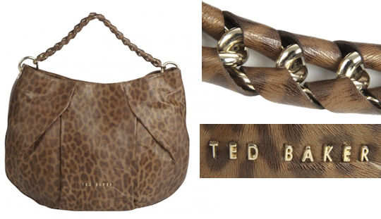 Ted Baker Leopard Print Hobo Bag