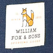 William Fox and Sons Label