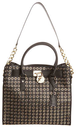 Michael by Michael Kors Hamilton Grommet Bag Gold Hardware