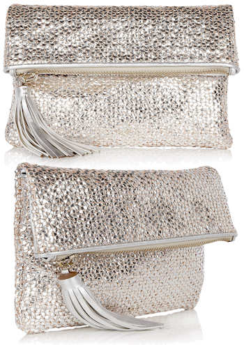 Anya Hindmarch Huxley Clutch in Silver
