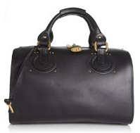 Chloe Aurore Duffle Bag in Black