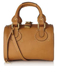 Chloe Aurore Small Bowling Bag in Tan