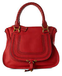 Chloe Marcie Medium Shoulder Bag in Red