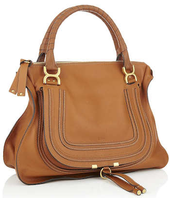 Chloe Marcie Tan Shoulder Bag