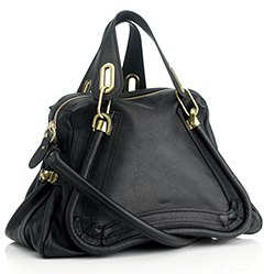 Chloe Medium Paraty Tote in Black