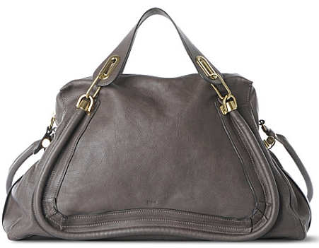 Chloe Large Paraty Tote in Grey