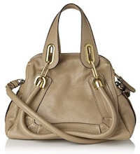 Chloe Paraty Tote in Taupe