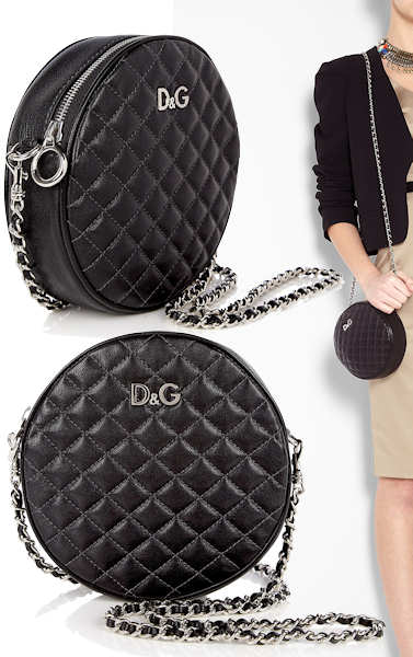 D and G Lily Glam Circle Mini Bag in Black