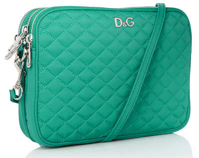 D&G Lily Glam Green Nylon Clutch