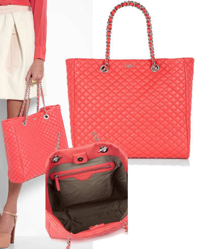 9ef168404d3a D G Lily Glam Pink Quilted Tote Bag