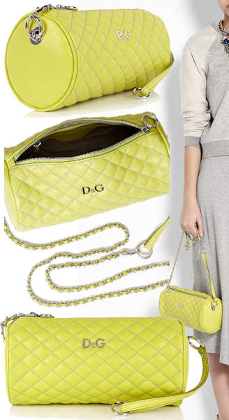 D and G Quilted Lily Glam Barrel Bag