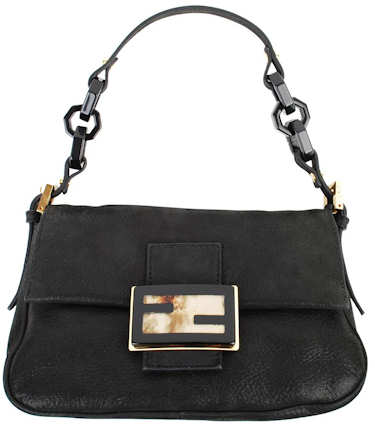 Fendi Mini Mama Plexi Bag in Black