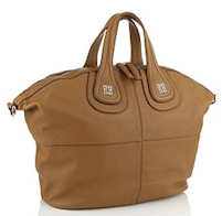 Givenchy Nightingale Tote in Camel with Silver Logo