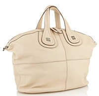 Givenchy Nightingale Tote in Cream with Silver Logo