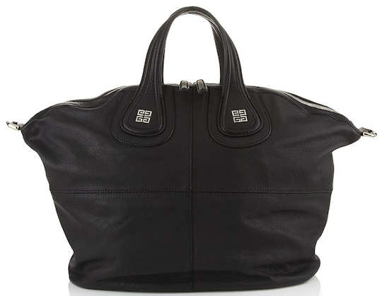 Givenchy Nightingale Tote in black with silver logo