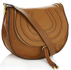 Chloe Marcie Crossbody Hobo Bag in Tan