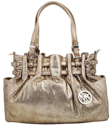 28001ed90b62 Michael Kors Gold Snake Embossed Bag