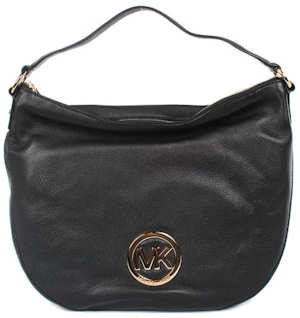 Michael Kors Large Fulton Shoulder Bag in Black