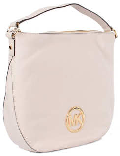 Michael Kors Large Fulton Shoulder Bag in Vanilla