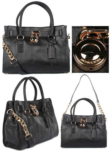 Michael by Michael Kors East West Hamilton Satchel in Black
