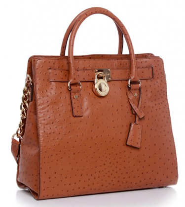 Michael by Michael Kors Ostrich Hamilton Tote