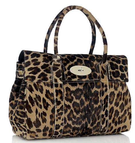 Mulberry Bayswater Camel Leopard Haircalf