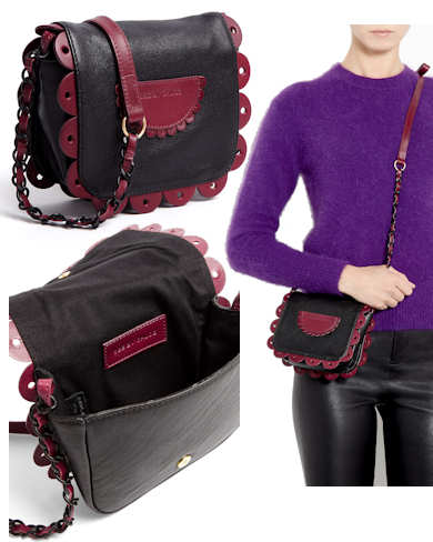 See by Chloe Poya Mini Cross Body Bag in Black and Burgundy