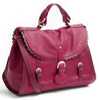 See by Chloe Poya Satchel in Burgundy